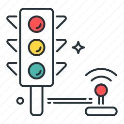 control, light, sign, traffic icon