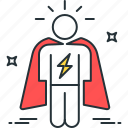 cape, hero, man, super, superhero, vigilance, vigilante icon
