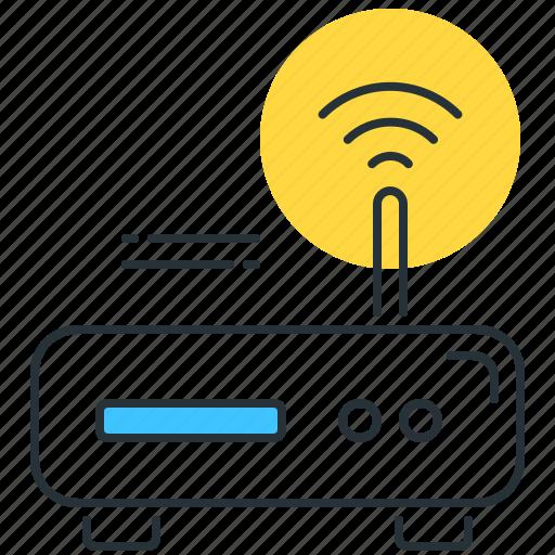 antenna, communication, internet, modem, technology, wifi, wireless icon