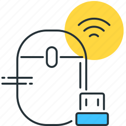 bluetooth, gadget, mouse, technology, wifi, wireless icon