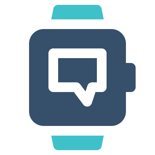 chat, message, smart, watch icon