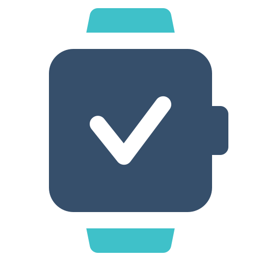 check, confirm, smart, watch icon