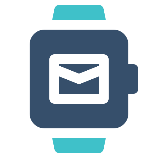 mail, smart, watch icon