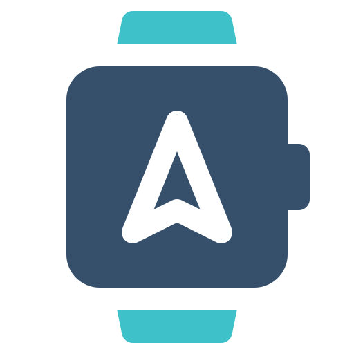 navigation, smart, watch icon