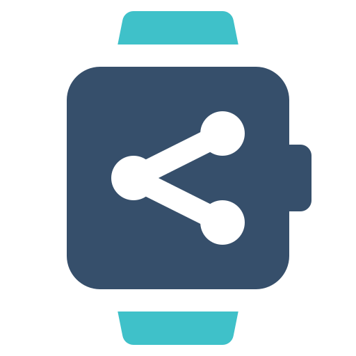 share, smart, watch icon