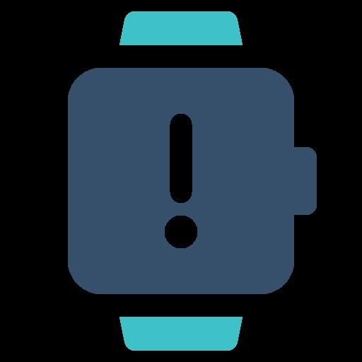 smart, warning, watch icon