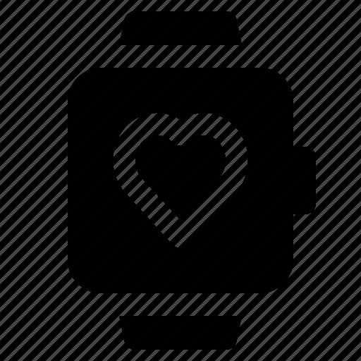 heart, love, smart, watch icon