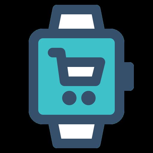 cart, smart, smart watch, watch icon