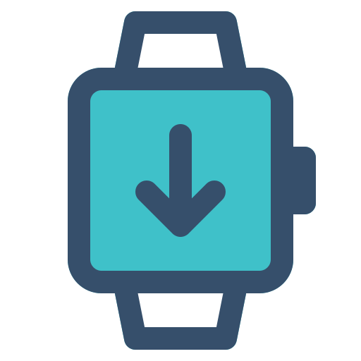 download, smart, smart watch, watch icon