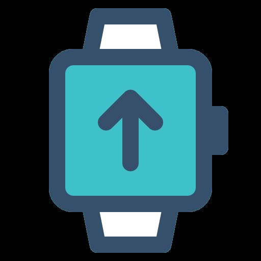 smart, smart watch, upload, watch icon