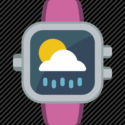 app, cloudy, notification, rainy, sunny, weather icon