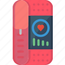 app, calorie counter, health, heart rate, step counter, tracker icon