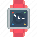 analogue, clock, digital, face, time, watch icon