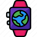 earth, globe, gps, location, map, navigation icon
