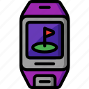 app, fitness, golf, golf tracker, leisure, sport, tracker icon