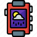 app, cloudy, notification, rainy, sunny, weather icon