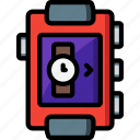 analogue, clock, digital, face, selection, time, watch icon