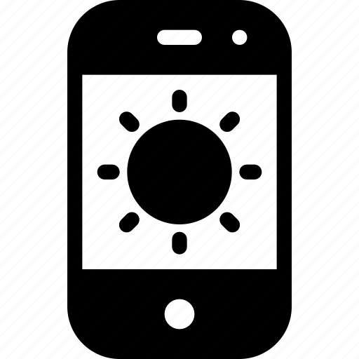 device, mobile, phone, smartphone, sunny icon