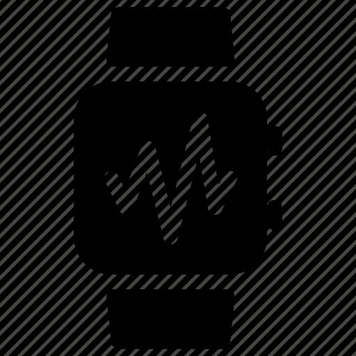 ecg, heart, pulse, rate, smartwatch icon