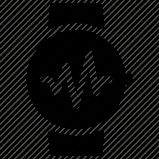 ecg, heartbeat, pulsation, pulse, smartwatch icon