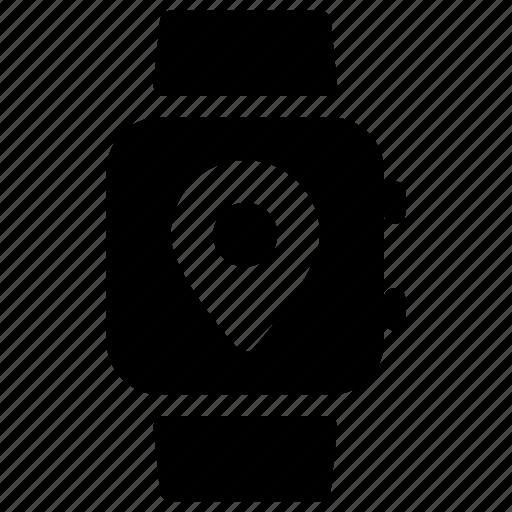 gps, location, navigation, place, smartwatch icon