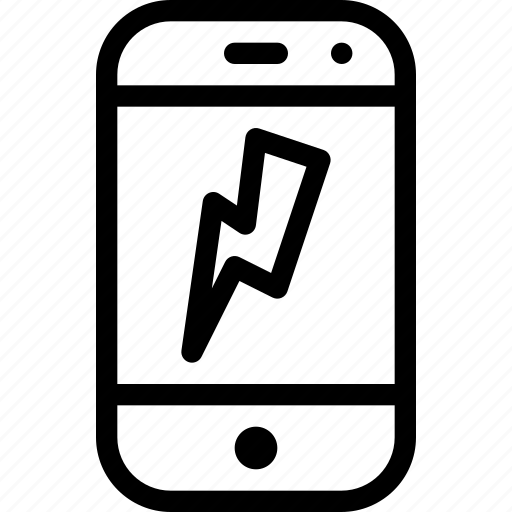 device, flash, mobile, phone, smartphone icon