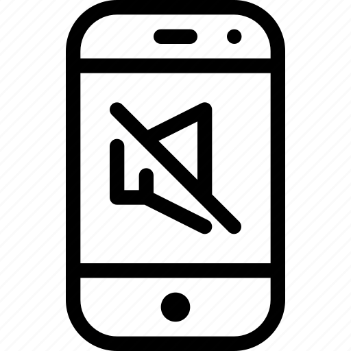 device, mobile, mute, phone, smartphone icon