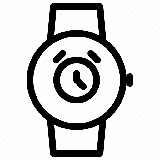 alarm, clock, smartwatch, time, watch icon