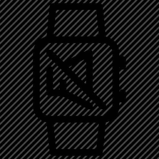 mute, off, smartwatch, speaker, volume icon