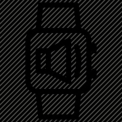 music, smartwatch, sound, speakers, volume icon