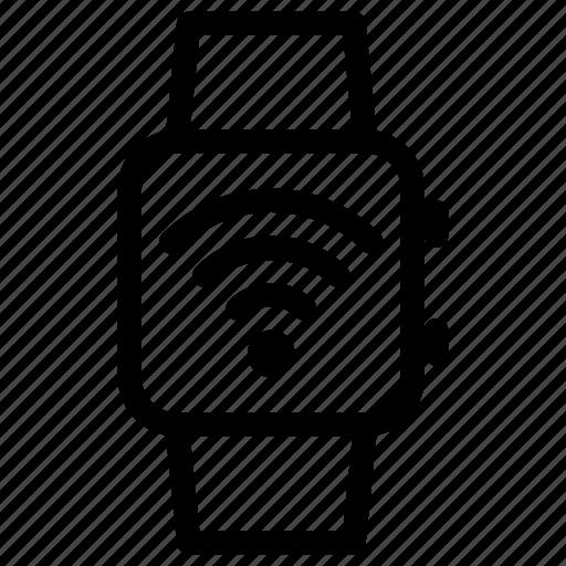 network, smartwatch, technology, wifi, wireless icon