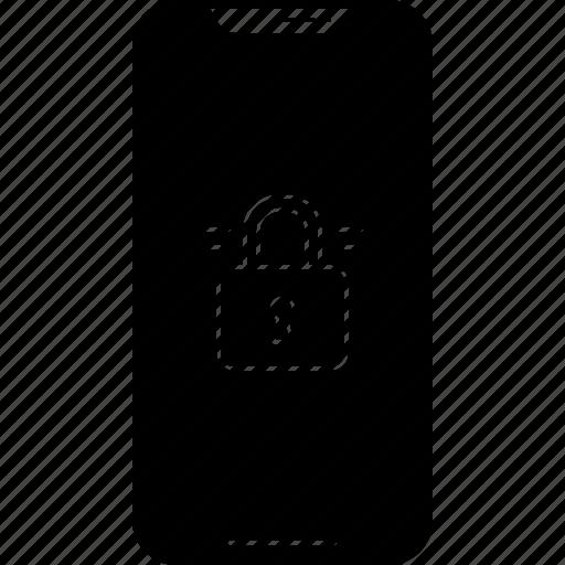 authorization, iphone, locked, phone, protection icon
