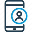 avatar, cell, mobile, phone, smart, smartphone, user icon