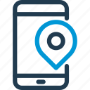 map, mobile, phone, pin, pointer, smart, smartphone icon
