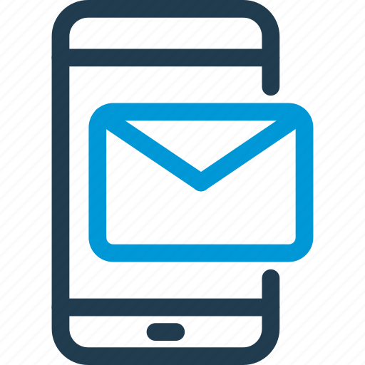 cell, letter, mail, mobile, phone, smart, smartphone icon