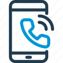 call, cell, incoming, mobile, phone, smart, smartphone icon