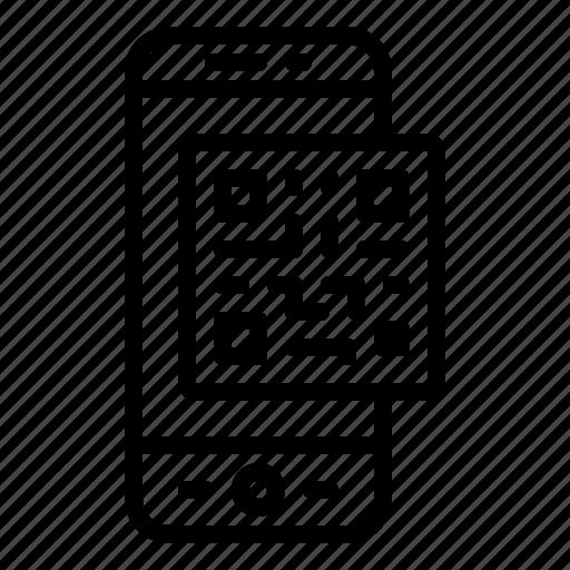 bar, code, phone, scanner, smartphone icon