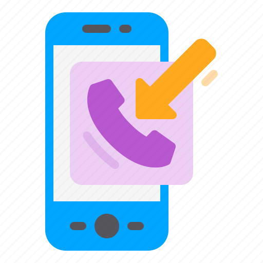 arrow, call, contact, in, phone, smartphone icon