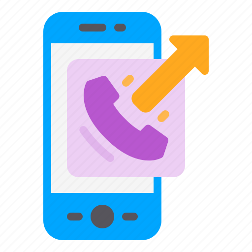 arrow, call, contact, out, phone, smartphone icon