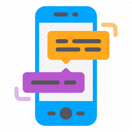 app, chatting, communication, phone, smartphone icon