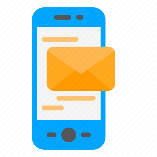 email, inbox, phone, smartphone, sms icon