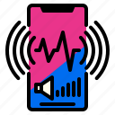 application, phone, smart, sound icon