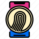 application, finger, phone, scan, smart icon