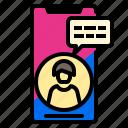 application, phone, smart, talk icon