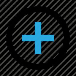 add, circle, plus, size, zoom icon