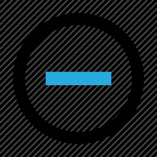 circle, delete, minus, zoom, zoom out icon