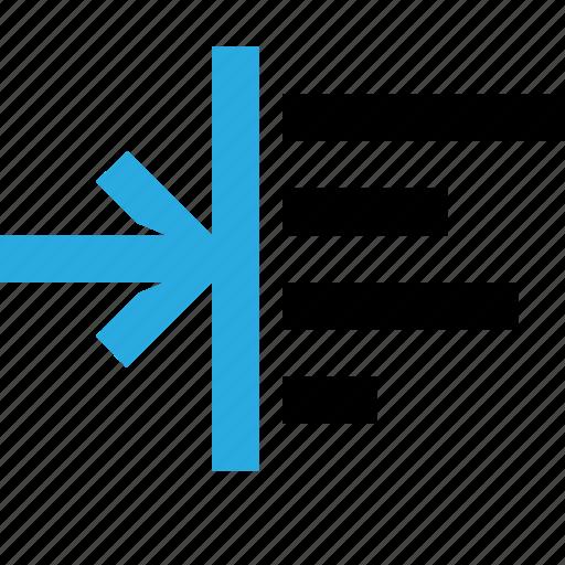 edit, indent, left, text, typography icon