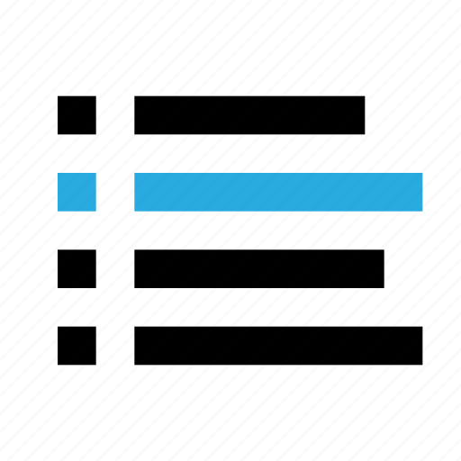 bullet, file, interface, list, log, menu, text icon