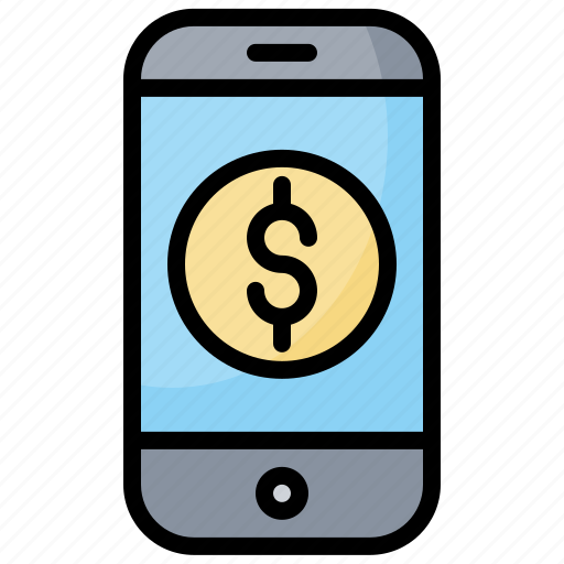Cash, currency, money, phone icon - Download on Iconfinder