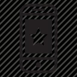 device, favourite, mobile, phone, smartphone, star icon